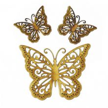 3 x Wooden Laser Cut Butterflies